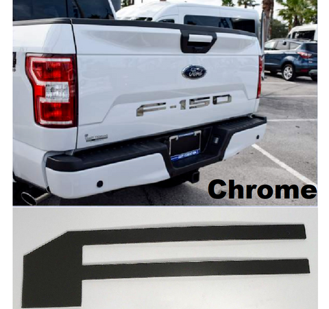 Tailgate Letter Inserts for 2018-2019 Ford F150 - Chrome
