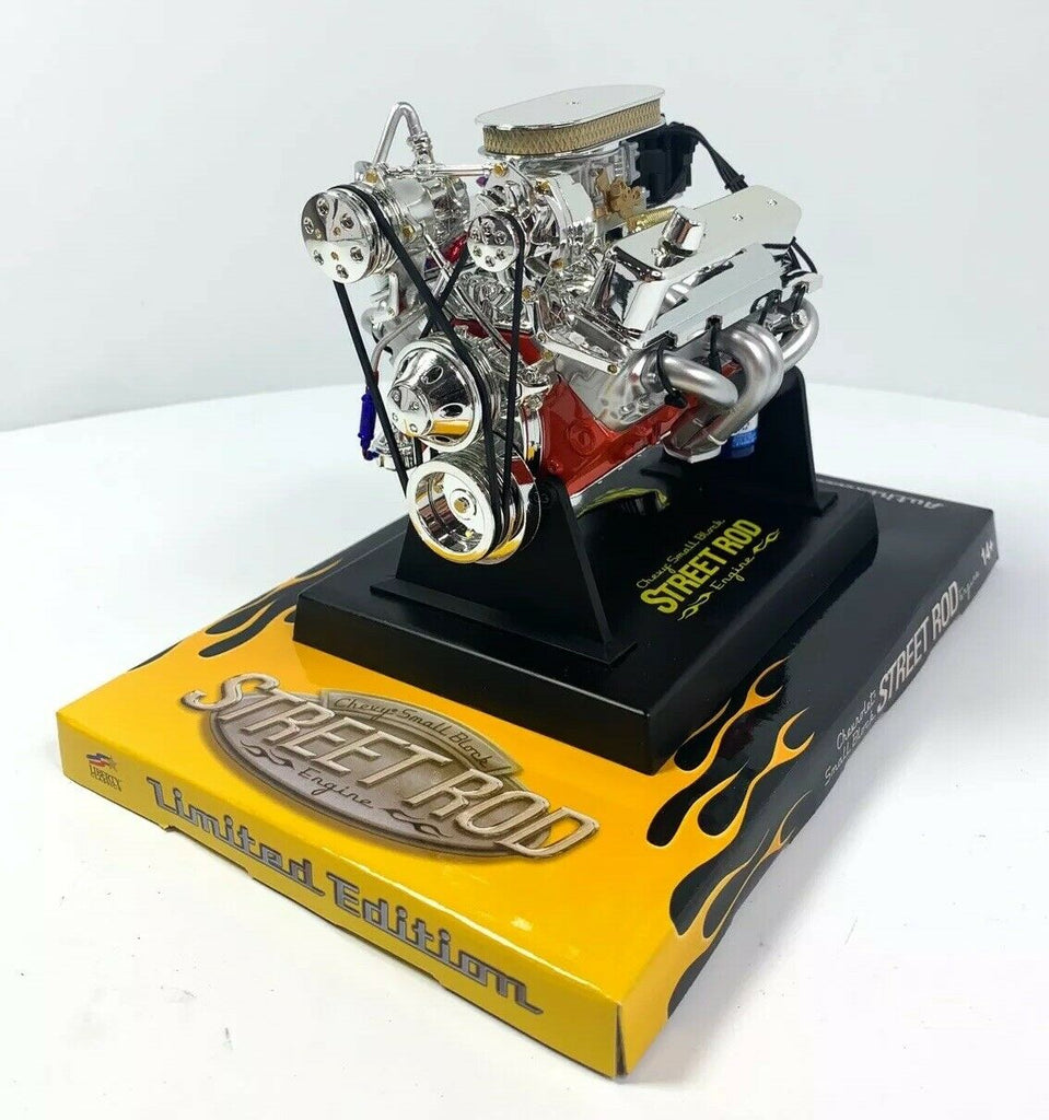 Small Block Chevy SBC V8 Model Engine - Diecast 1:6 Scale Motor Replica-Live Fast Supply Company