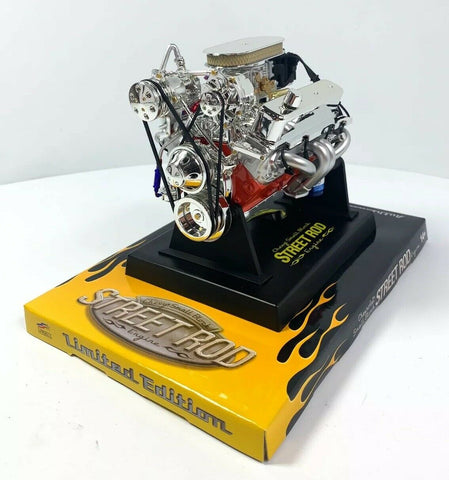 Image of Small Block Chevy SBC V8 Model Engine - Diecast 1:6 Scale Motor Replica-Live Fast Supply Company