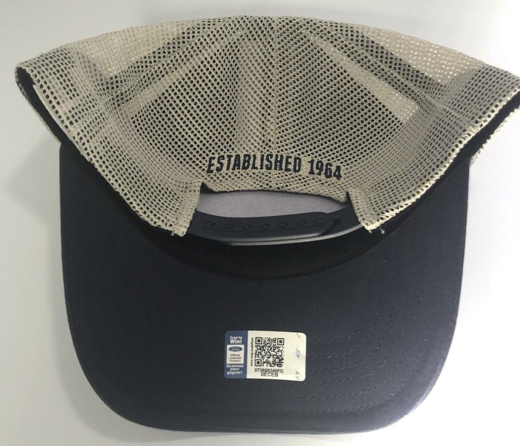 Ford Shelby Cobra Mustang Hat - Blue with Khaki Mesh (Back)
