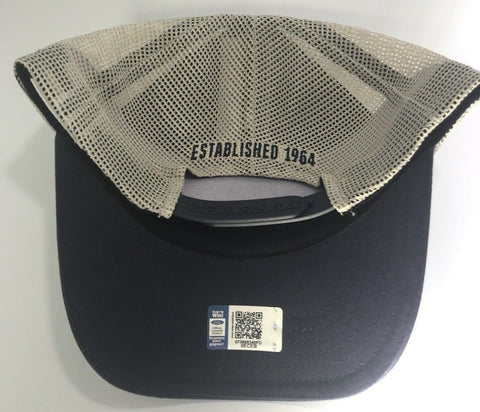 Image of Ford Shelby Cobra Mustang Hat - Blue with Khaki Mesh (Back)