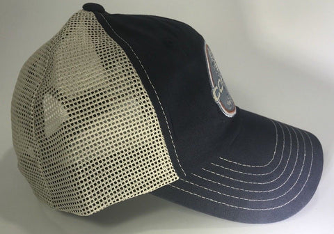 Image of Ford Shelby Cobra Mustang Hat - Blue with Khaki Mesh (Side)