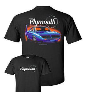 Black T-Shirt w/ Blue 1970 Plymouth Road Runner Super Bird (Licensed)