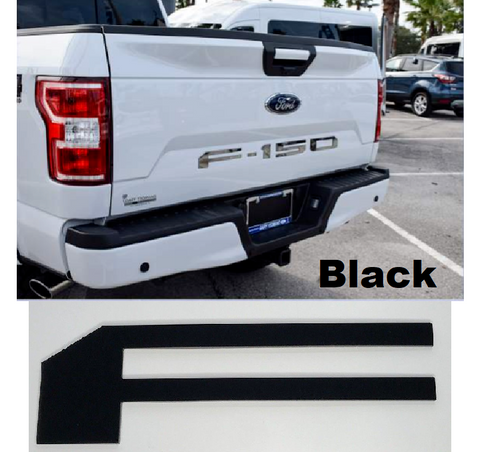 Tailgate Letter Inserts for 2018-2019 Ford F150 - Black