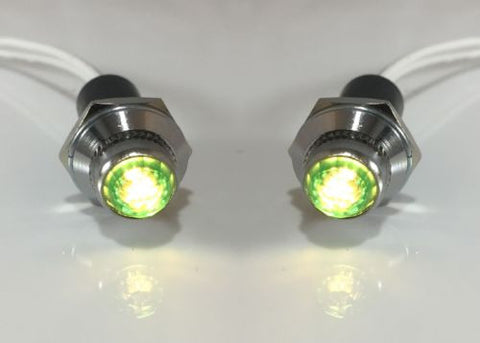Dash Indicator Pilot Warning Lights - Green LED (Front)