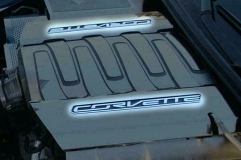 Image of Brushed Stainless Fuel Rail Letters Inserts For 2014-2019 Chevy C7 Corvette-Live Fast Supply Company