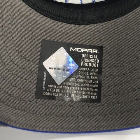 Mopar Hat - Distressed Bill with Logo / Emblem (Bottom)