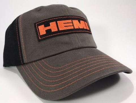 Image of Mopar Hat- Dodge Hemi Logo Gray with Black Mesh (Front)
