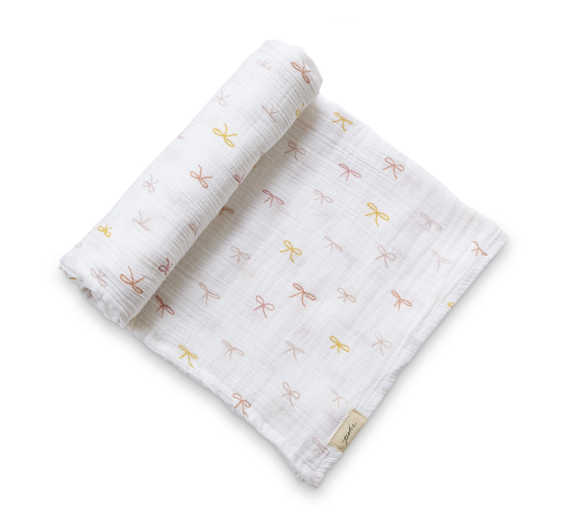 PINK BOW SWADDLE