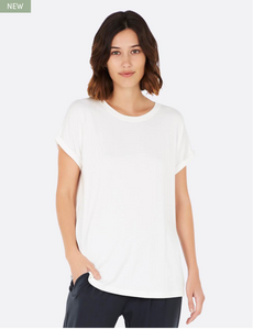 DOWNTIME LOUNGE TOP WHITE