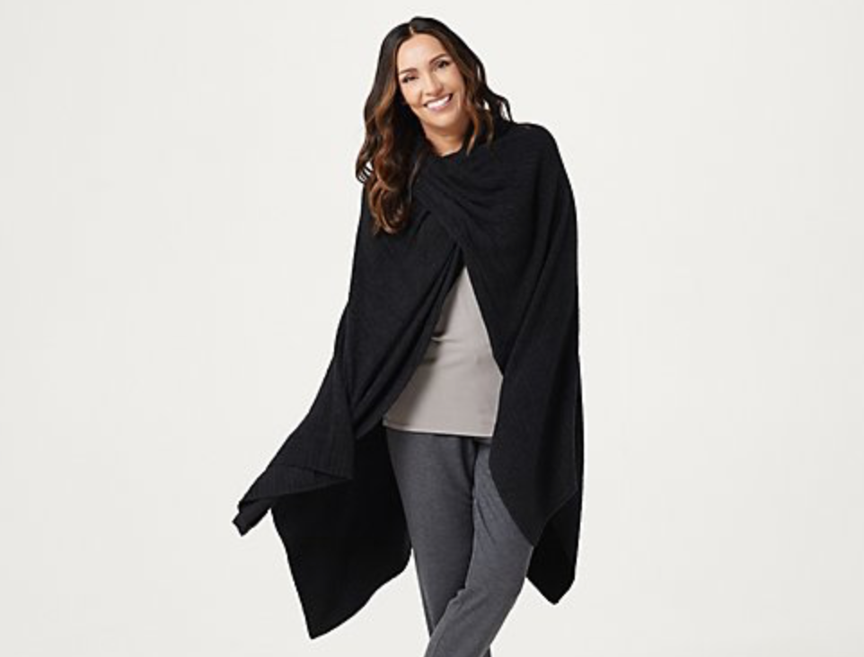 COZYCHIC LIGHT RIB TRAVEL WRAP