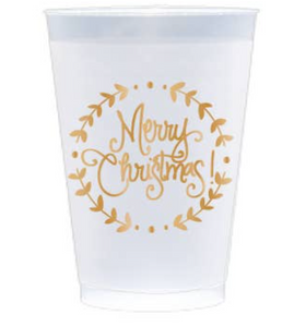 MERRY CHRISTMAS FROSTED CUP