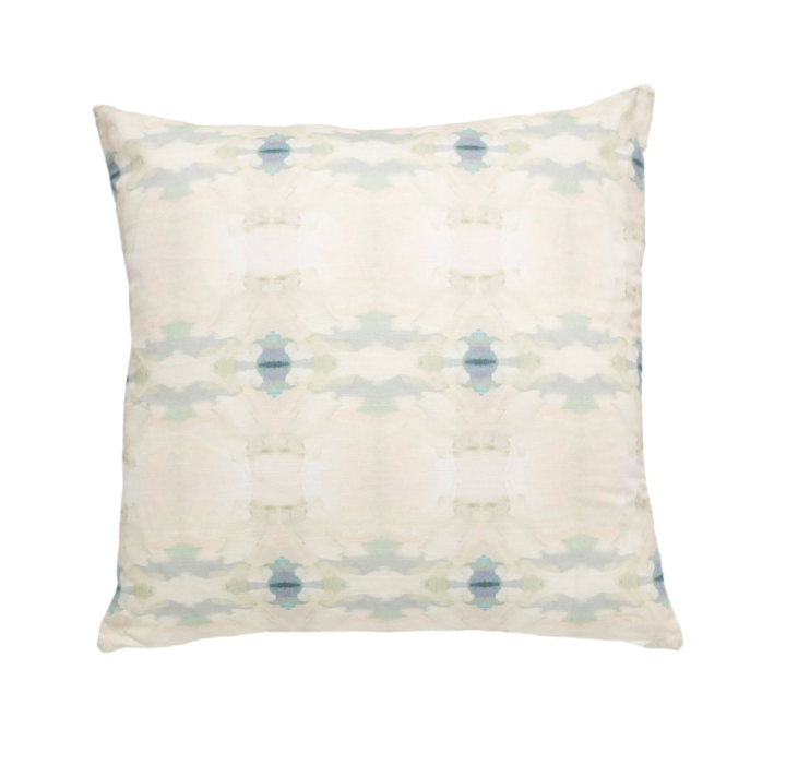 Coral Bay Pale Blue Linen Pillow