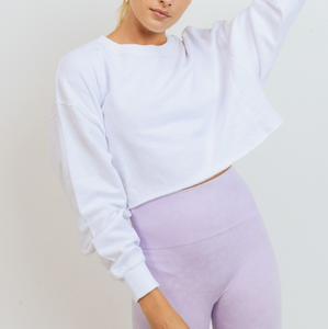 Cropped Wash Pullover