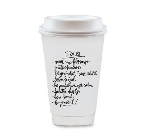 To-Do-List Coffee Cup Set