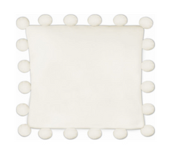 WHITE POM PILLOW