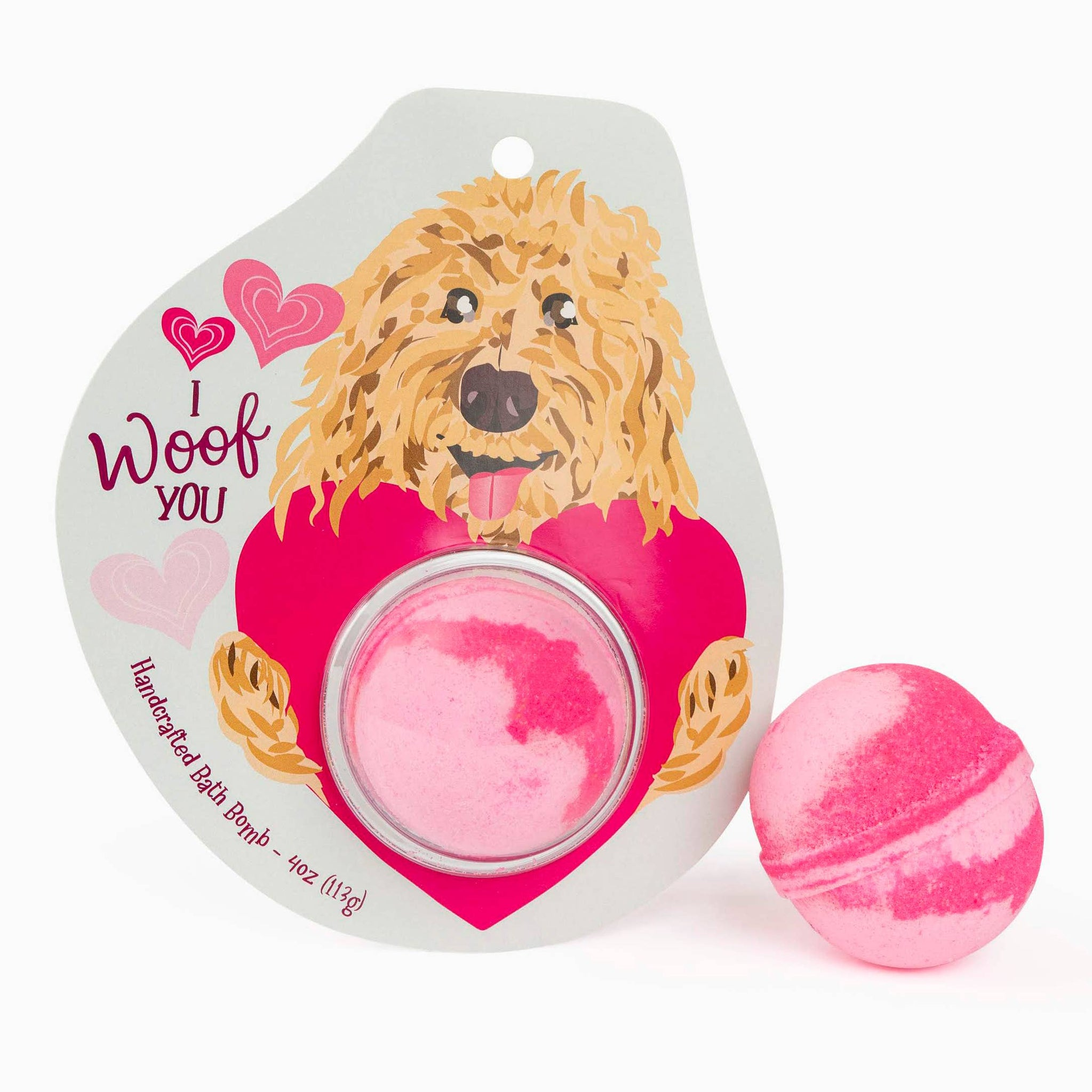 Woof You Goldendoodle Clamshell Bath Bomb
