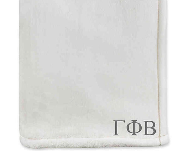 SORORITY MONOGRAM THROW