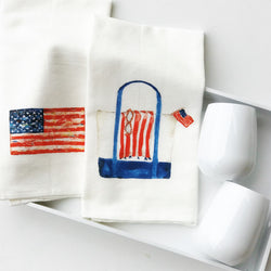 PATRIOTIC TEA TOWEL