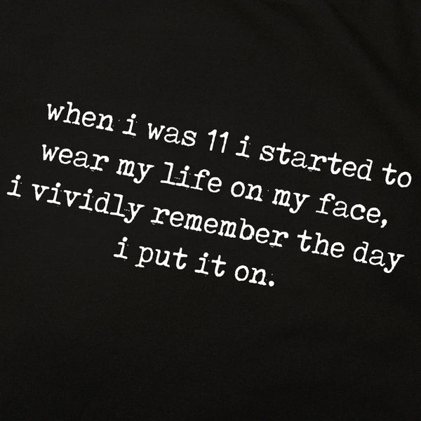 'when i was 11...' Tee | Black