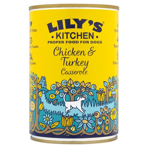 Lilys Kitchen Chicken & Turkey Casserole 400g