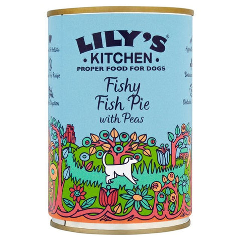 Lilys Kitchen Fishy Fish Pie with Peas for Dogs 400g