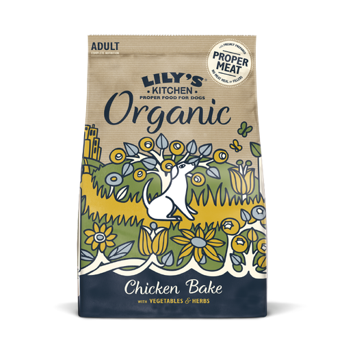 Lily's Kitchen Organic Adult Chicken & Vegetable Bake Dry Food for Dogs