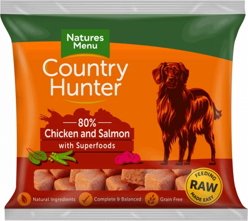 Natures Menu Country Hunter Raw Superfood Nuggets Chicken with Salmon 1kg