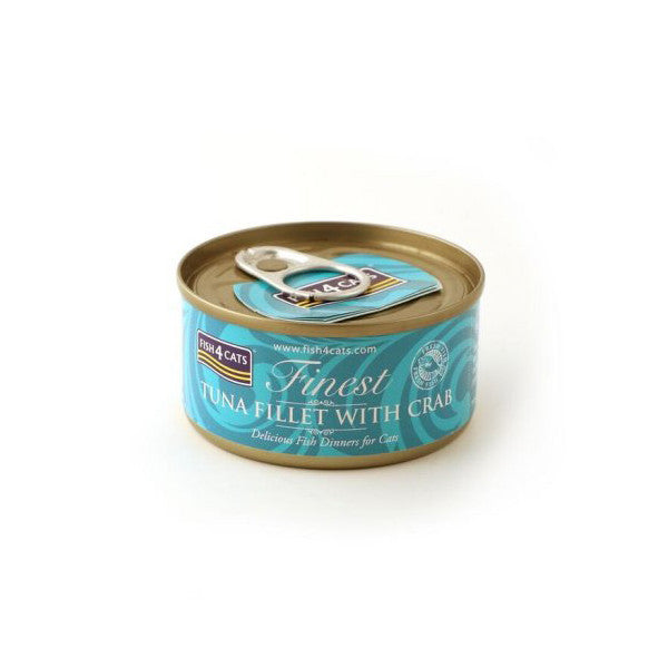Fish4Cats Finest Tuna Fillet With Crab 70g
