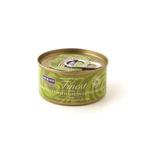 Fish4Cats Finest Tuna Fillet With Green Lipped Mussel 70g