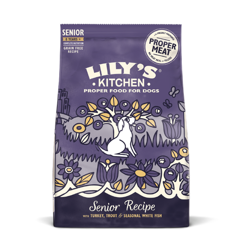 Lily's Kitchen Turkey & Trout Dry Food for Senior Dogs