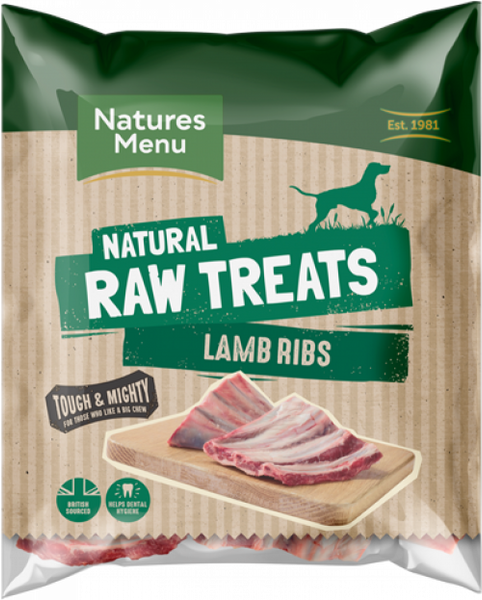 Natures Menu Lamb Ribs x 1 Rack
