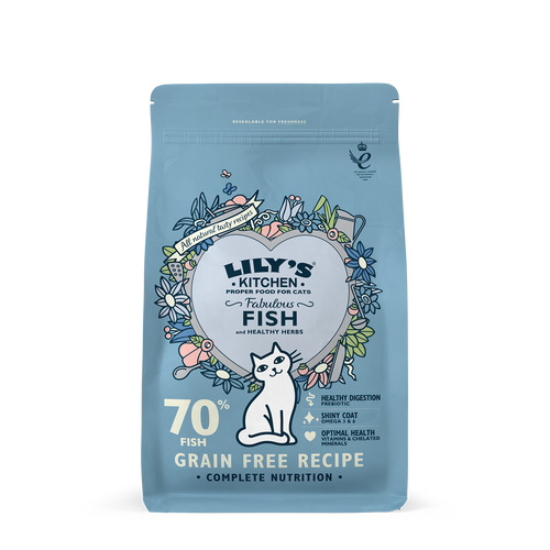 Lily's Kitchen Fabulous Fish Dry Food for Cats 800g