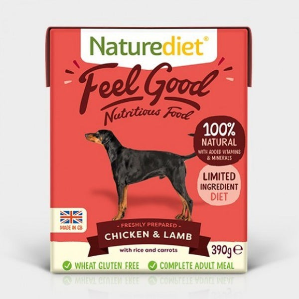 Naturediet Feel Good Chicken & Lamb 390g x 18