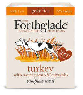 Forthglade Grain Free Turkey with Sweet Potato & Veg Complete 395g