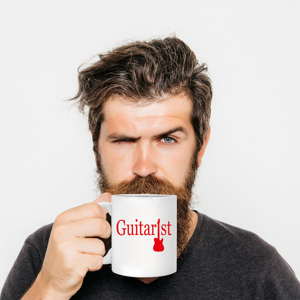 Guitar Coffee Mug For Cool Musician Or Guitarist Music Cofee Lover Mugs – Nice Art Design Gift – Awesome Coffe Cup V1.0