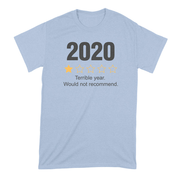2020 Would Not Recommend Shirt 2020 One Star Shirt 2020 Review Tshirt