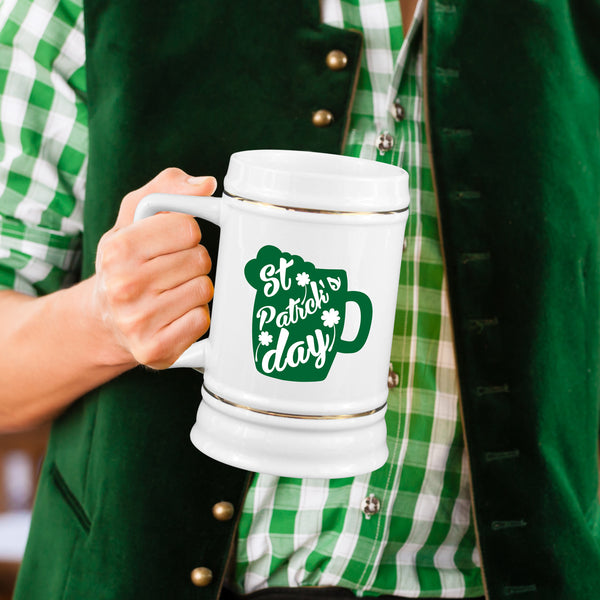 St Patrick's Day Beer Stein Happy St Paddys Day Steins Irish St Patricks Mug Festive Beer Drinking Gift