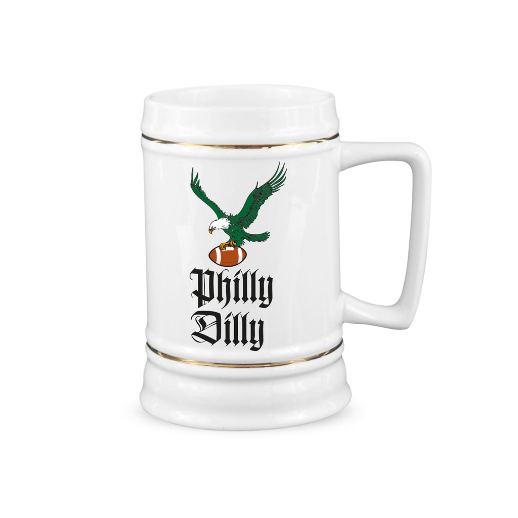 Philly Dilly Beer Stein Philadelphia Eagles Mug Eagles Championship Steins Gift Fly Eagles Fly