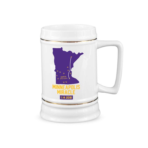 Minneapolis Miracle Minnesota Vikings Beer Stein Skol Vikings Cup Vikings Playoffs Steins Gifts