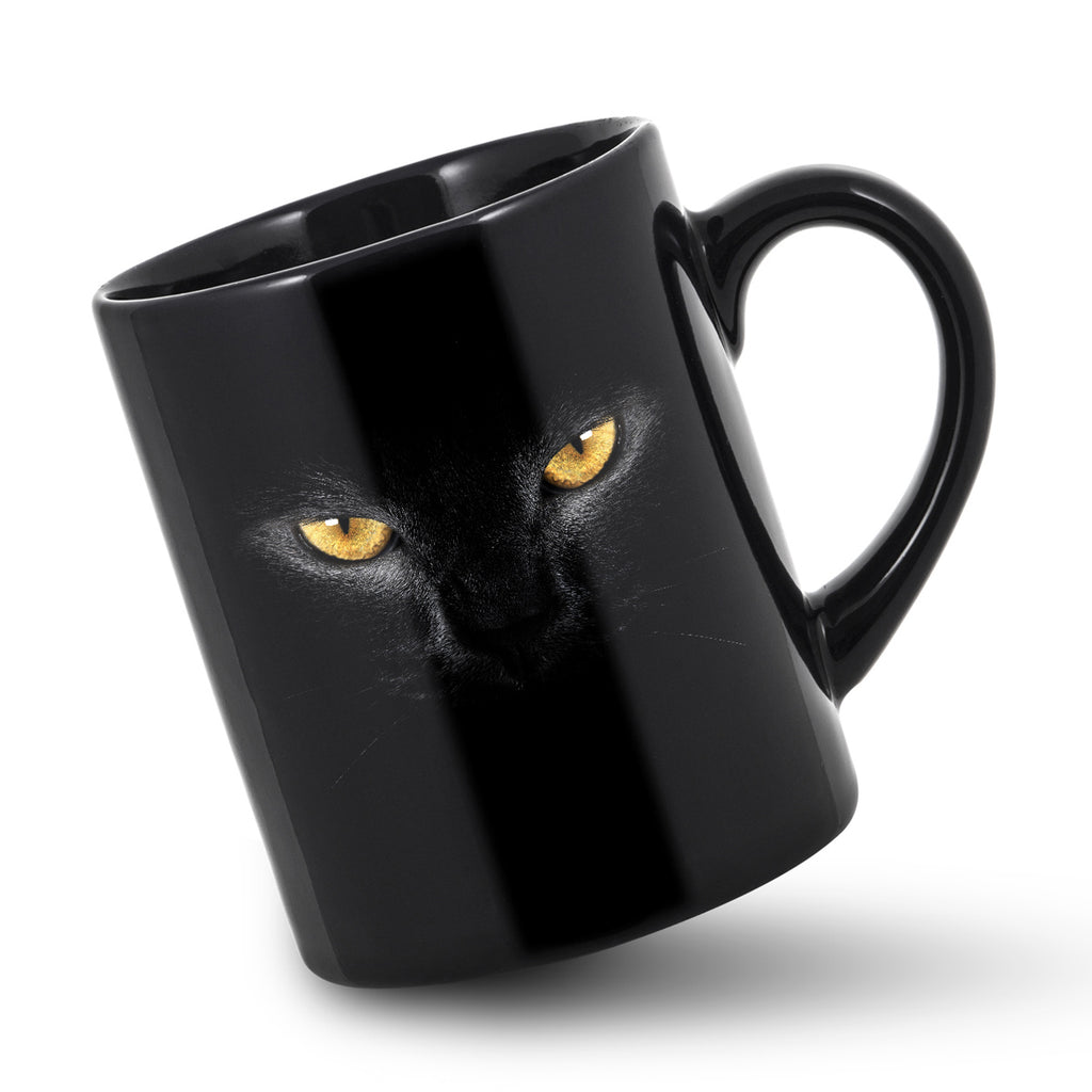 Halloween Cat Mug Black Cats Face Mugs Cat Eyes Holiday Cup Panther Cups Gift Ebay