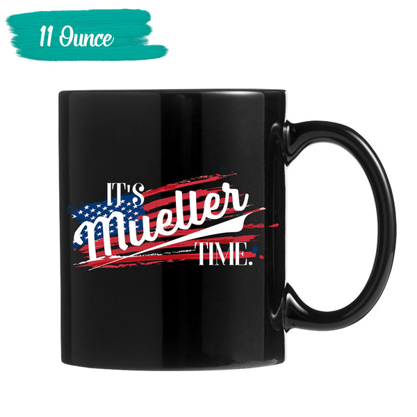 it's mueller Time Black Mug