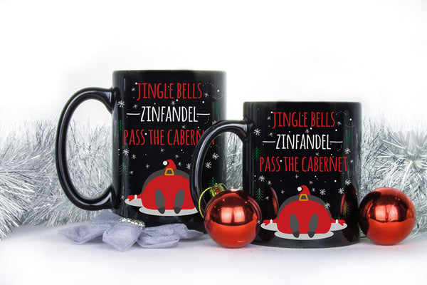 Jingle Bells Zinfandel Pass The Cabernet Mug Xmas Zinfandel Cabernet Gag Gift Coffee Mugs