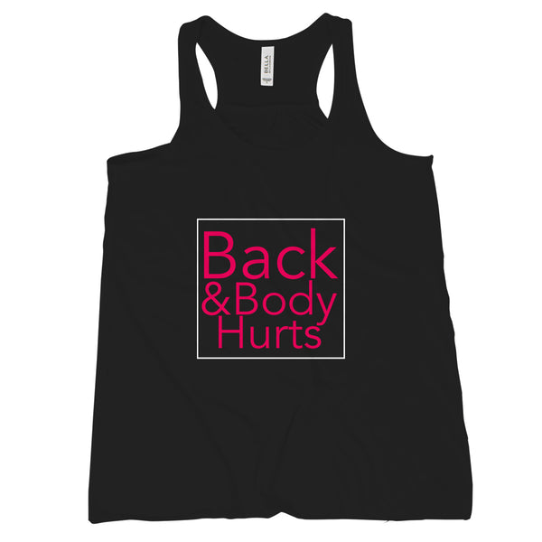 Back and Body Hurts Tank Funny Gym Tanks for Women