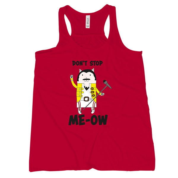 Freddie Purrcury Dont Stop Meow Tank Top Womens Freddie Purrcury Shirt