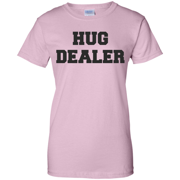 Hug Dealer Ladies Custom 100% Cotton T-Shirt