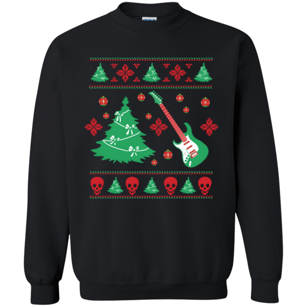 Tacky Christmas Sweater Guitar Tee