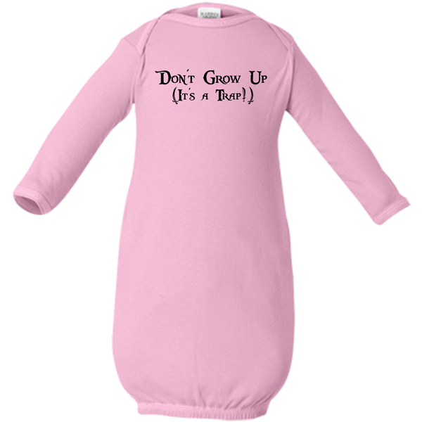 For Baby - Don't Grow Up, It's a Trap - Quote Infant Layette - Baby Shower Gift