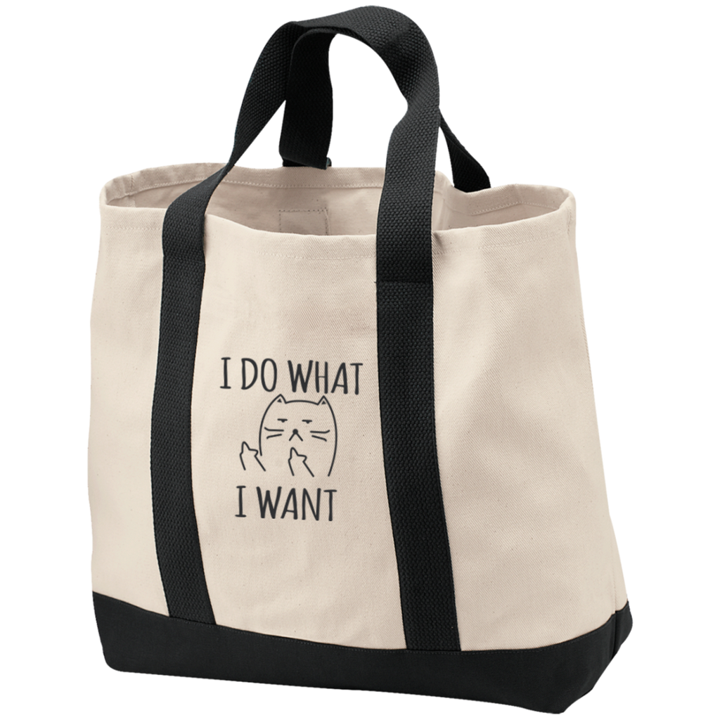 "Cat Bag ""I Do What I Want"" Canvas Tote - Cat Lover Gift - Cat Quote Bags"