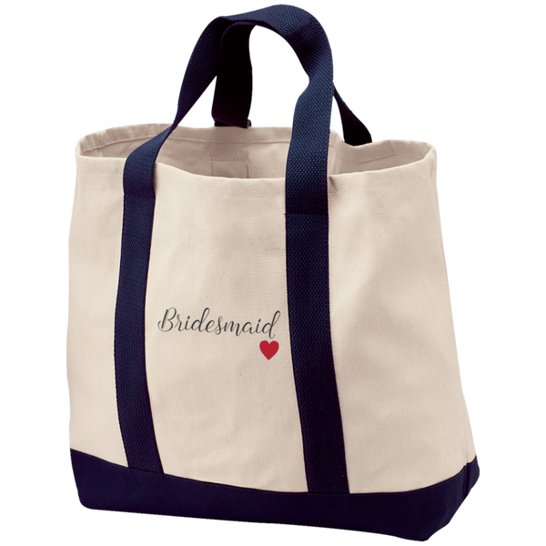 Bridesmaid Love Canvas Bag - Bridesmaid Gifts - Bridal Party Gifts - Wedding Party Gift Bags